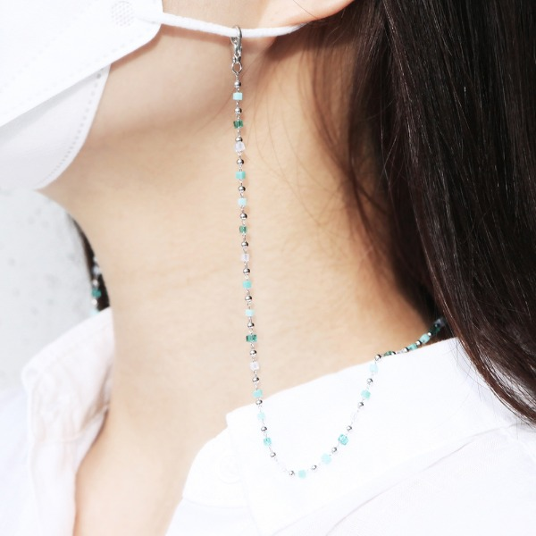 GRACEBELL Mask Strap Jewelry 09.Cube Aqua